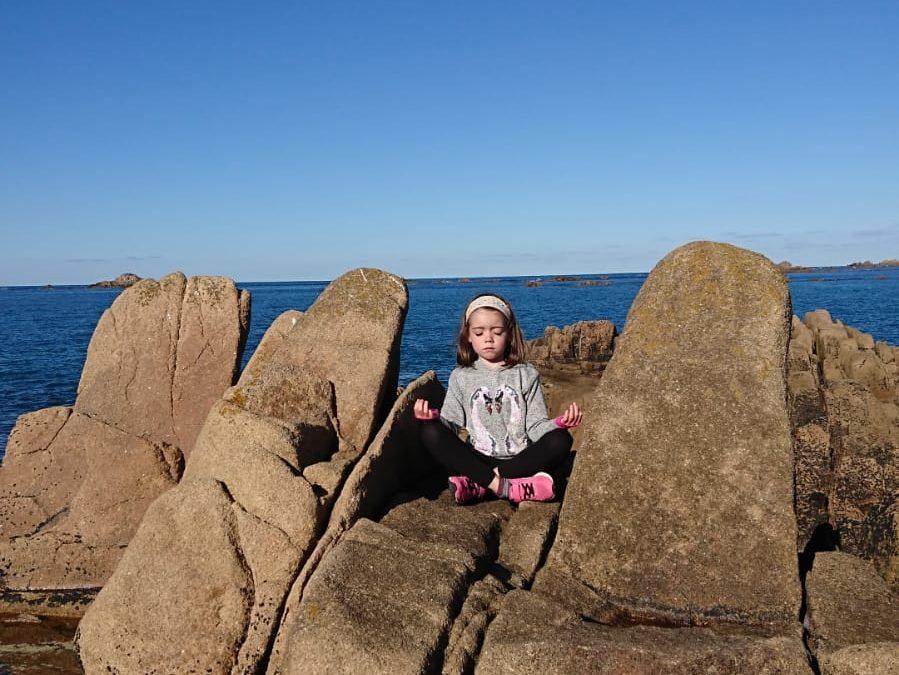 Yoga in the rocks